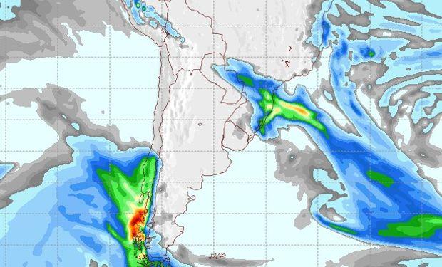 Pronóstico de lluvias para el 23 de agosto.