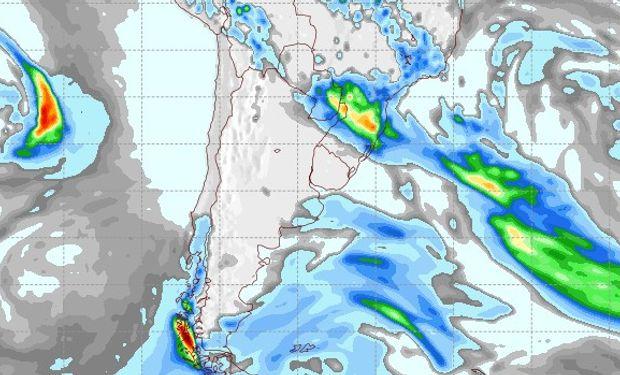 Pronóstico de lluvias para el 3 de octubre.