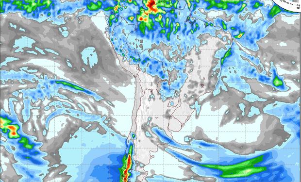 Pronóstico de lluvias para el viernes.