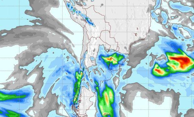 Pronóstico de lluvias para el 11 de agosto.