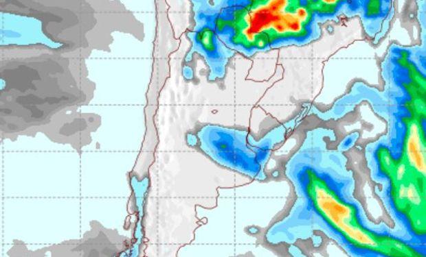 Pronóstico del tiempo: cómo serán las lluvias del miércoles luego del marcado retroceso de la sequía del centro
