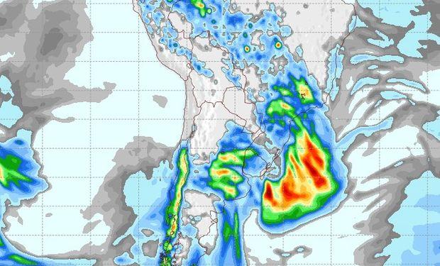 Pronóstico de lluvias para el 1 de octubre.