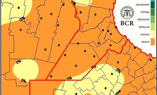 80% de la region núcleo en condiciones de sequía.