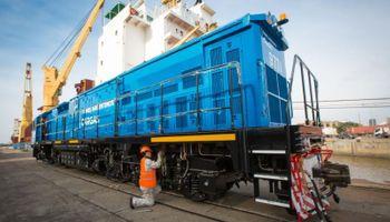 Llegaron 18 nuevas locomotoras para el Belgrano Cargas