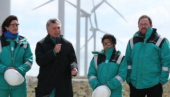 Macri encabezó la inauguración del Parque Eólico de Manantiales Behr en Chubut