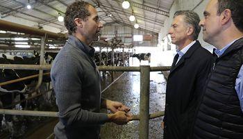 El reclamo de un tambero durante la visita de Macri