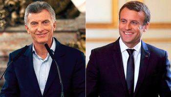 Francia: Macri y Macron se reúnen para un acuerdo de libre comercio