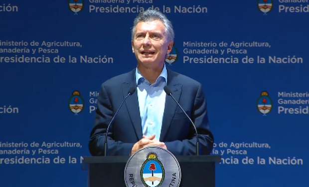 Macri en el informe de gestión del Ministerio de Agricultura.