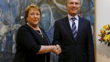 Con Bachelet, Macri insistió en conectar al Mercosur con el Pacífico