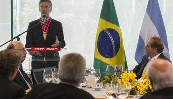 """Macri pidió en Brasil darle """"un impulso histórico"""" al Mercosur"""