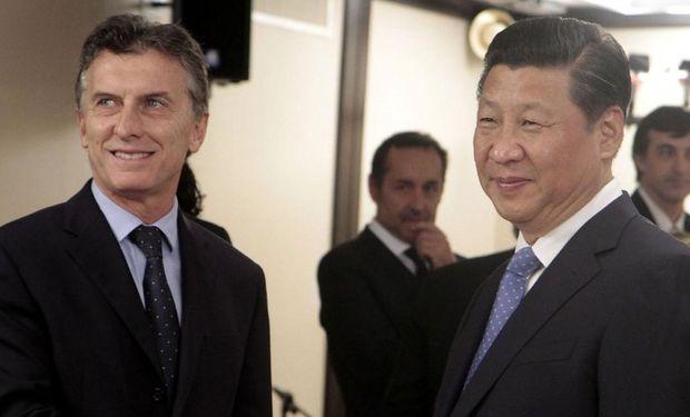 Mauricio Macri y su par chino, Xi Jinping.