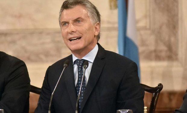 Macri ante la Asamblea Legislativa.