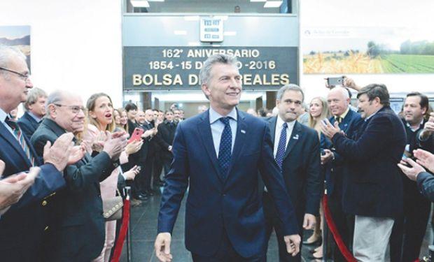 El presidente Mauricio Macri ratificó el compromiso y la confianza que su Gobierno tiene en el sector agropecuario. Foto: Cronista Comercial.