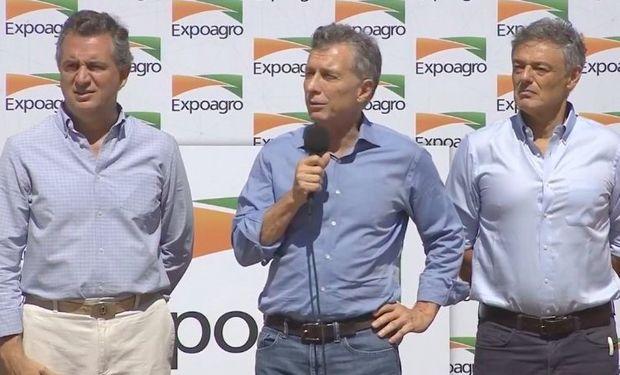"""""""El campo se transformó en el gran motor que tiene la Republica Argentina"""", destacó Mauricio Macri durante la apertura de Expoagro."""
