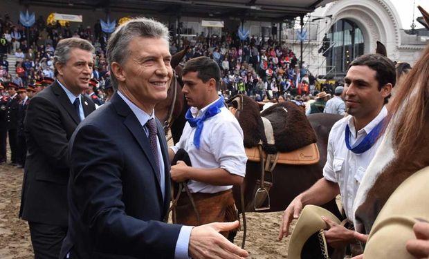 Macri durante su visita del año pasado.