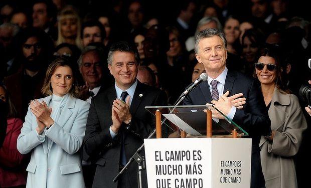 Mauricio Macri en la Exposición Rural 2017.