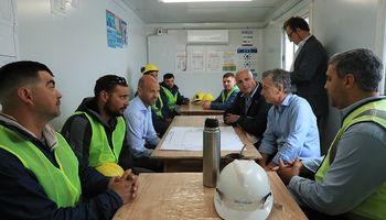 Macri visitó el nuevo acceso del Belgrano Cargas a los puertos exportadores del Gran Rosario