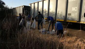 Preocupación: saquearon dos trenes con maíz en una semana