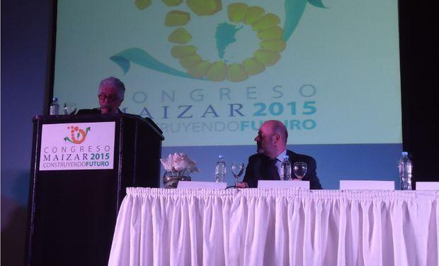 Gastón Fernández Palma, Presidente de MAIZAR y Aníbal Ivancich, Presidente de MAIZAR 2015 abrieron oficialmente el Congreso.