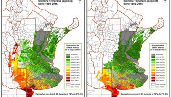 Cambio climático: presentan mapas de riesgos hídricos en los cultivos