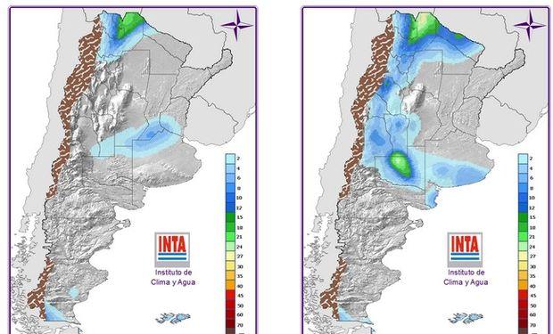 Mapa de Precipitaciones. Fuente: INTA