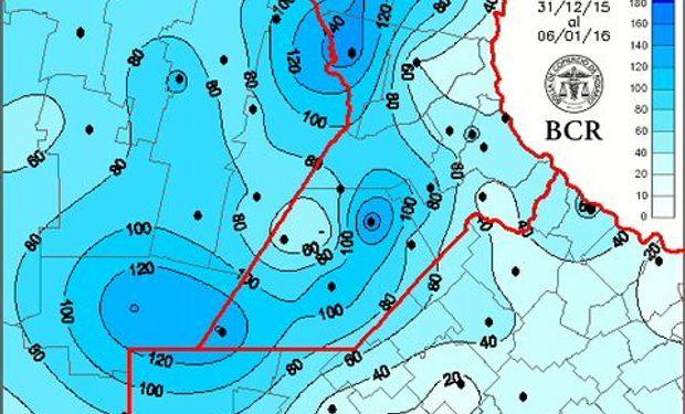 El noroeste bonaerense recibió acumulados menores a 50 mm.