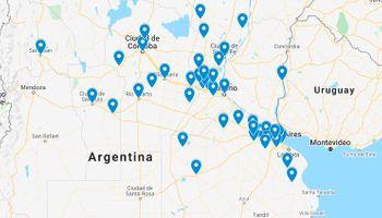 Mapa: los puntos de la movilización del #17A, que aseguran ya sumó 80 localidades