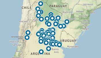 Mapa: los 69 puntos confirmados de la movilización contra la expropiación de Vicentin