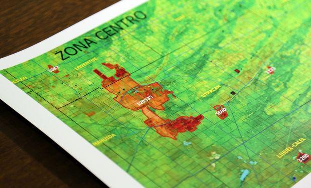 El mapa de las zonas afectadas.
