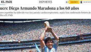Principales portadas: los diarios del mundo se hacen eco de la muerte de Diego Armando Maradona