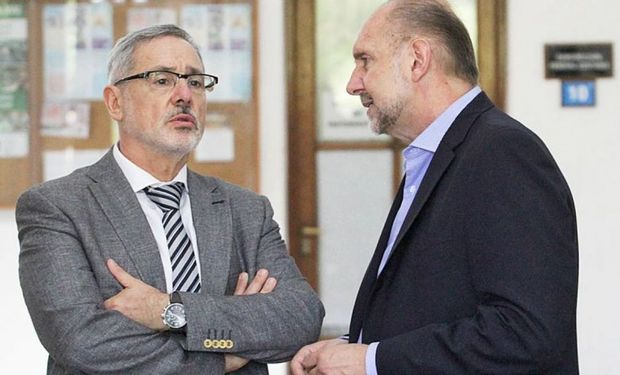 Marcelo Saín, ministro de Seguridad y Omar Perotti, gobernador de Santa Fe.
