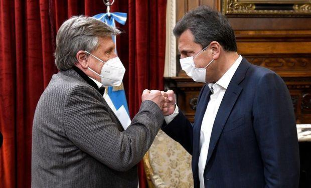 Presidente de CAFMA, Néstor Cestari y el presidente de la Cámara de Diputados, Sergio Massa.
