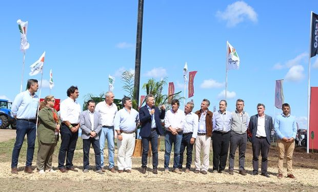 Macri visitó Expoagro el miércoles.