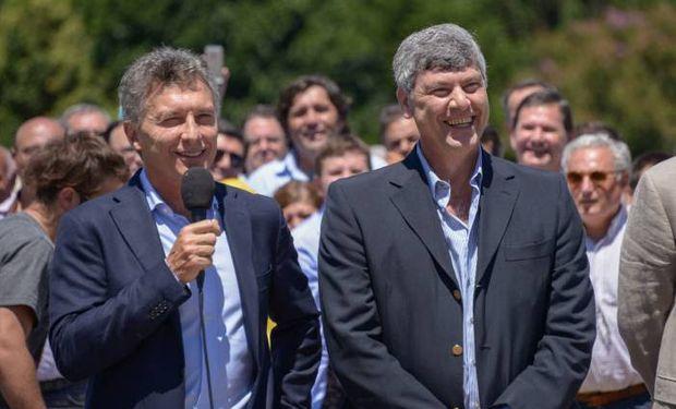 Mauricio Macri y Ricardo Buryaile durante el anuncio de la eliminación de las retenciones el pasado 14 de diciembre en Pergamino.