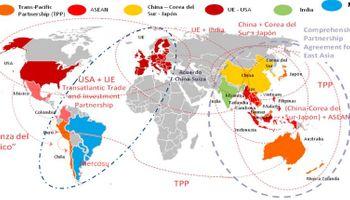 Comercio mundial: el Mercosur corre riesgo de quedar afuera de mega acuerdos