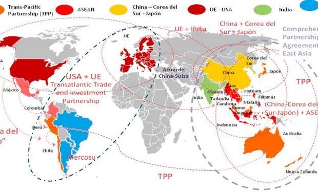 Negociaciones que cambiarán el mapa del comercio y la inversión.