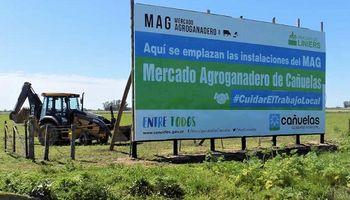 Avanzan las obras en el mercado agroganadero de Cañuelas