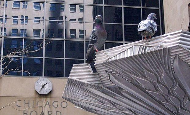 Bajas en el mercado de Chicago