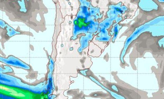 Pronóstico de lluvias para el miércoles 3 de mayo.