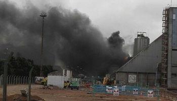 Incendio afectó el área de producción en Molinos Río de la Plata
