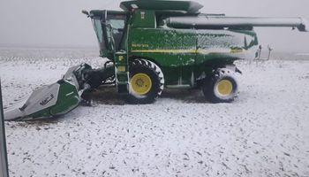 Maíz: imágenes de la nevada histórica que frena la cosecha