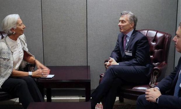 El presidente Mauricio Macri mantuvo hoy un encuentro en la sede la ONU con la directora gerente del FMI, Christine Lagarde. También participó el ministro de Hacienda, Nicolás Dujovne.