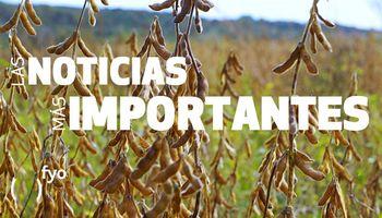 Temas del día: soja, ambiente frío, CNV, feedlots, default, insumos