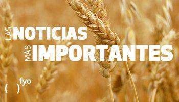 Temas del día: trigo, paro portuarios, lluvias, humedad, default, código IQ-R