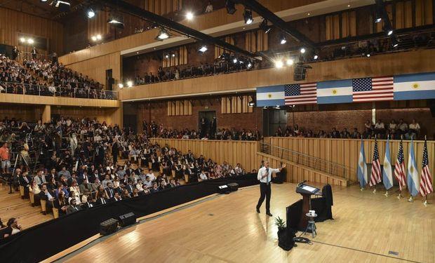 Barack Obama en la Usina del Arte, Buenos Aires. Foto: El Tribuno