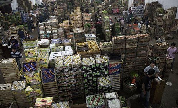 Vista de uno de los pabellones del Mercado frutihortícola de Escobar. Fuente: La Nación.
