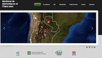 Crean una Web con mapas actualizados sobre desmontes