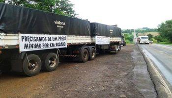 Paro de camioneros en Brasil: día dos