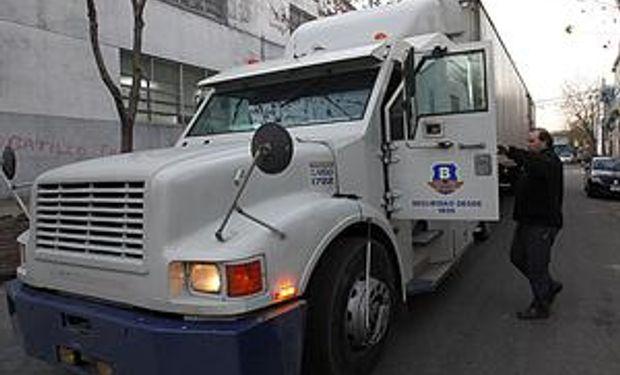 Camioneros paró anoche el transporte de caudales