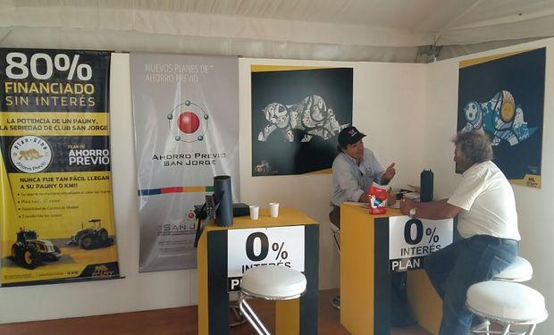 Stand de Pauny en Expoagro 2016.
